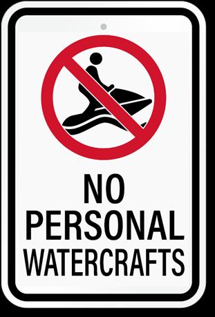 No Personal Watercrafts